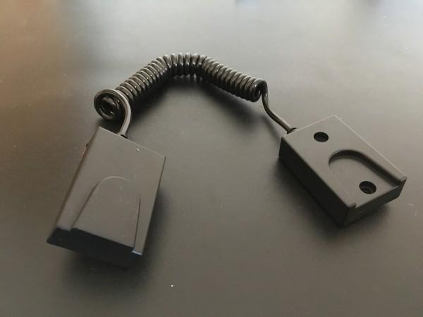 Verlegeschutz mit Magnethalter schwarz