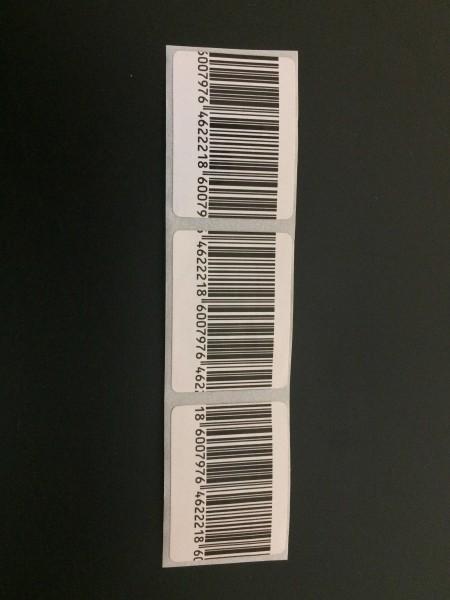 Klebeetikett, 3x4 cm Barcode