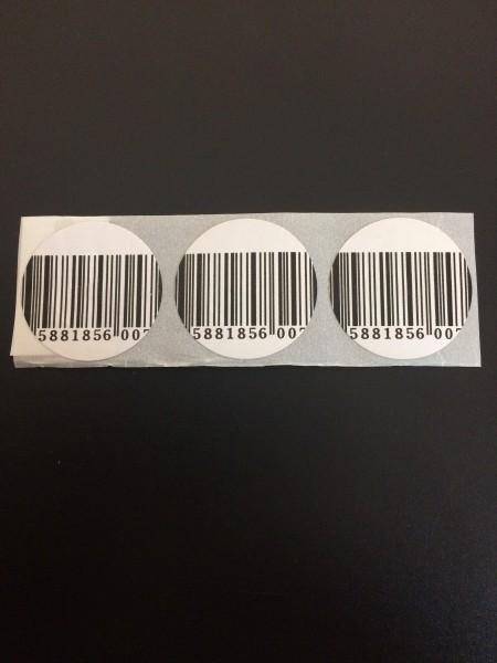 Klebeetikett 33 rund Barcode